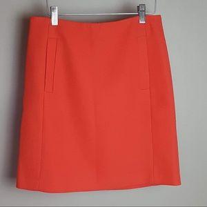 Banana republic orange waffle mini skirt size 0